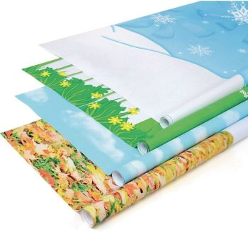 Fadeless Seasonal Designs Display Rolls - Assorted - HE491367 - 1218 x 3.6m - Pack of 4