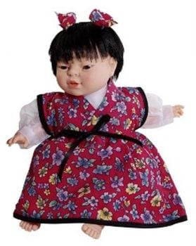Oriental Girl World Children Soft Bodied Doll - 36cm - HE306130 - Each
