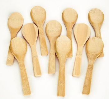 Bamboo Wooden Spoons - HE1497384 - Pack of 10