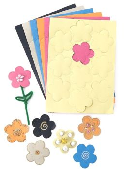 Die Cut Paper Flower Shapes - Assorted - 8cm - HE155135 - Pack of 500