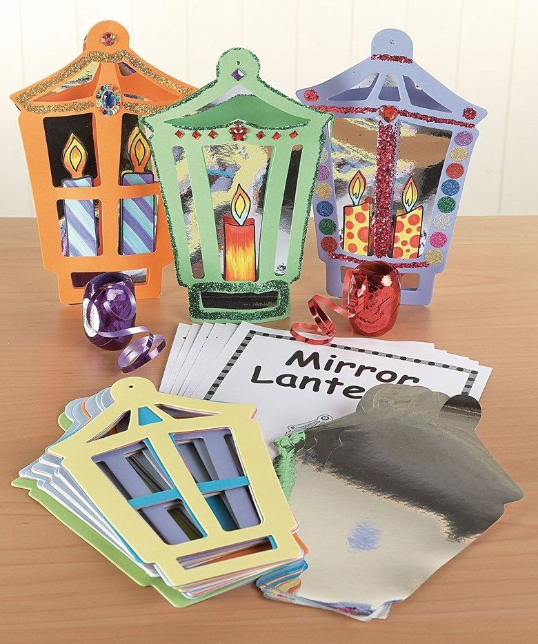 Mirror Lanterns - Assorted Colours - 245 x 160mm - HE175064 - Pack of 30