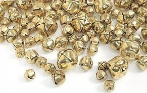 Gold Jingle Bells - Assorted Sizes - HE177079 - Pack of 150