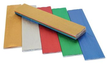 Metallic Crepe Paper Folds - Assorted - 500mm x 2.5m - HE475767 - Pack of 5
