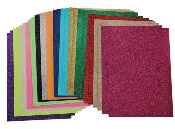 A4/297 x 210mm Glitter Card - Assorted (2 x 15) - HE1560012 - Pack of 30