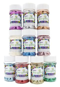 Bio-Glitter - Assorted - 40g - HE1765907 - Pack of 10