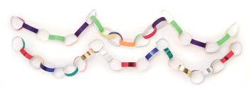 Self-Adhesive Paper Chains - Assorted - 200 x 20mm - HE382583 - Pack of 300