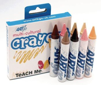 Chubbie Multicultural Crayons - Assorted - HE133776 - Pack of 8