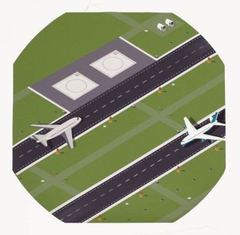 Airport Play Tray Mat - Diameter 880mm - HE1501804 - Each