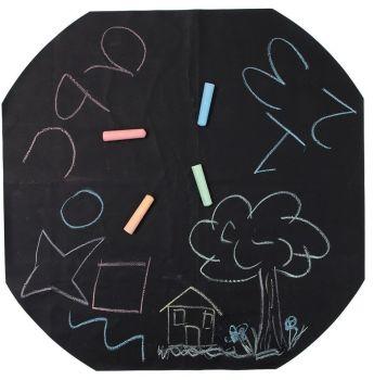 Chalkboard Play Tray Mat - Diameter 880mm - HE1775129 - Each