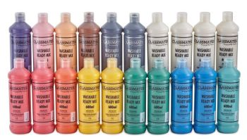 Classmates Washable Ready Mixed Paint Class Pack - Assorted - 600ml - HE1666458 - Pack of 20