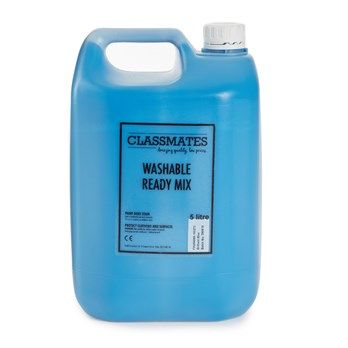 Classmates Blue Washable Ready Mixed Paint - 5 Litre - HE1765309 - Each