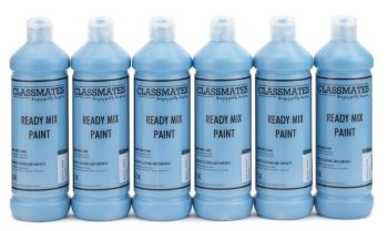 Classmates Turquoise Ready Mixed Paint - 600ml - HE43049 - Pack of 6