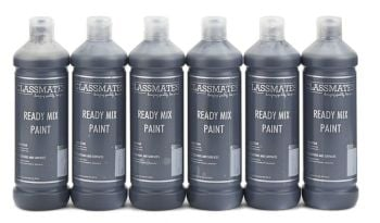 Classmates Black Ready Mixed Paint - 600ml - HE42932 - Pack of 6