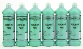 Classmates Brilliant Green Ready Mixed Paint - 600ml - HE42971 - Pack of 6