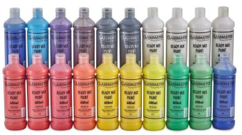 Classmates Ready Mixed Paint Class Pack - Assorted - 600ml - HE215611 - Pack of 20