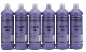 Classmates Purple Ready Mixed Paint - 600ml - HE43023 - Pack of 6