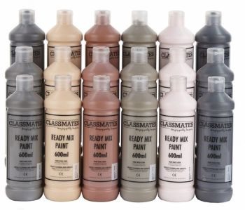 Classmates People/Skin Tone Ready Mixed Paint - 600ml - HE1506718 - Pack of 18