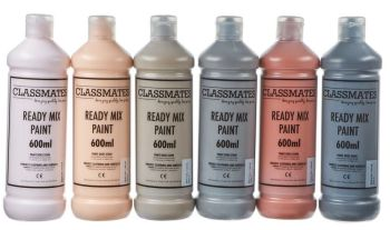 Classmates People/Skin Tone Ready Mixed Paint - 600ml - HE227376 - Pack of 6