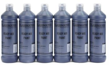 Classmates Prussian Blue Ready Mixed Paint - 600ml - HE382960 - Pack of 6