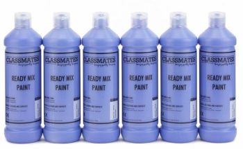 Classmates Cobalt Blue Ready Mixed Paint - 600ml - HE43101 - Pack of 6