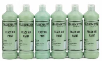 Classmates Leaf Green Ready Mixed Paint - 600ml - HE43036 - Pack of 6