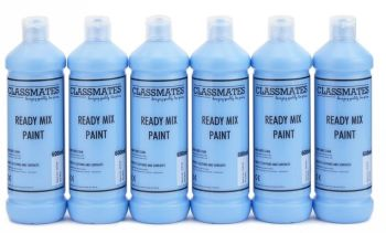 Classmates Sky Blue/Cyan Ready Mixed Paint - 600ml - HE43088 - Pack of 6