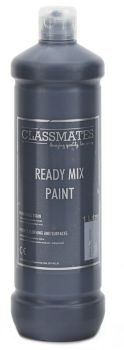 Classmates Black Ready Mixed Paint - 1 Litre - HE1182074 - Each