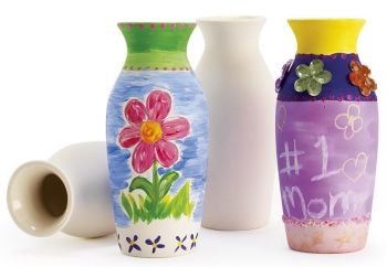 Ceramic Vases - 12.7 x 3.8cm - HE1666481 - Pack of 12