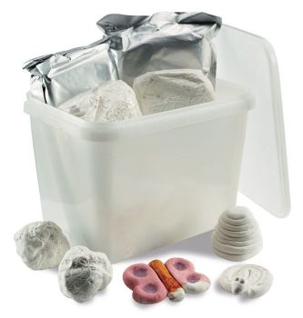 Classmates Lightweight White Air Drying Modelling Dough - Assorted - HE280429 - 4 x 250g Bucket - Each
