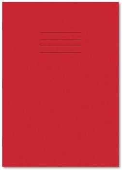 A4+/320 x 240mm Red Cover 8mm Ruled with Margin - 48 Page - 400081771- Pack of 45