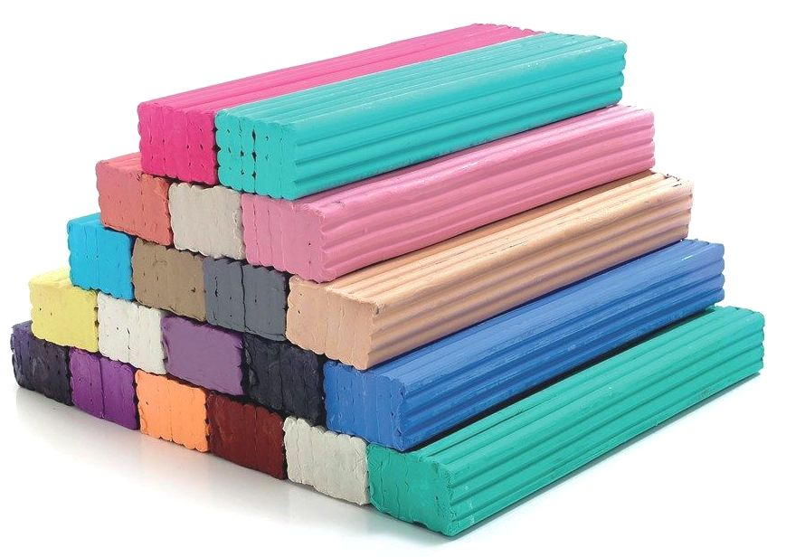 Assorted Colour Modelling Clay Bars - 500g Bar - HE1500460 - Pack of 20