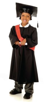 Graduation Gowns & Mortarboards - Black - 3-5 Years - HE1302367 - Each