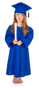 Graduation Gowns & Mortarboards - Blue - 3-5 Years - HE1659574 - Each