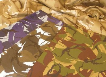 Camouflage Fabric - Desert - 2 x 1.5m - HE1001705 - Each
