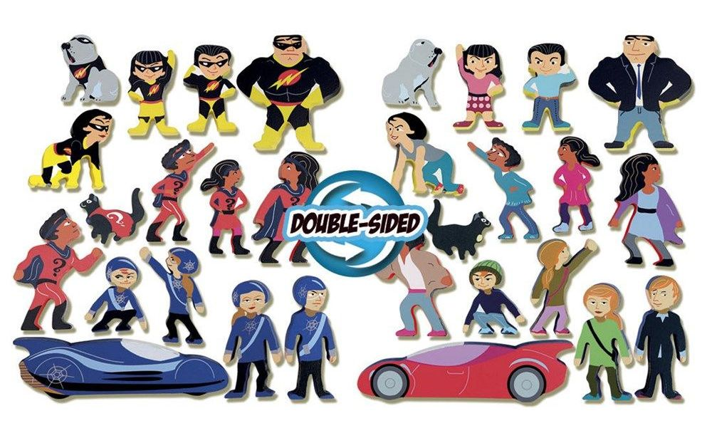 Wooden Superhero Characters - Assorted - 4- 10.5cm - HE1785981 - Class Pack