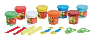 Giotto Bebe' Super Modelling Set - Assorted - HE1344407 - Pack of 8 + Tools