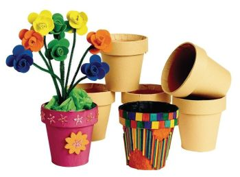 Decorate Your Own Flowerpots - 10cm - HE1560073 - Pack of 12