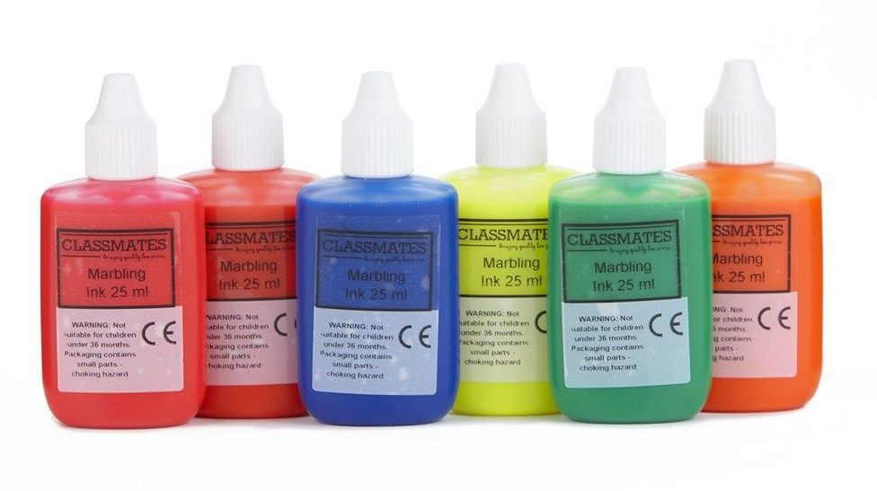 Fluorescent Marbling Inks - Assorted - 25ml - HE1202068 - Pack of 6