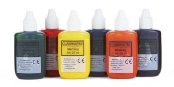 Marbling Inks - Assorted - 25ml - HE1202066 - Pack of 6