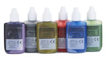 Metallic Marbling Inks - Assorted - 25ml - HE1202070 - Pack of 6