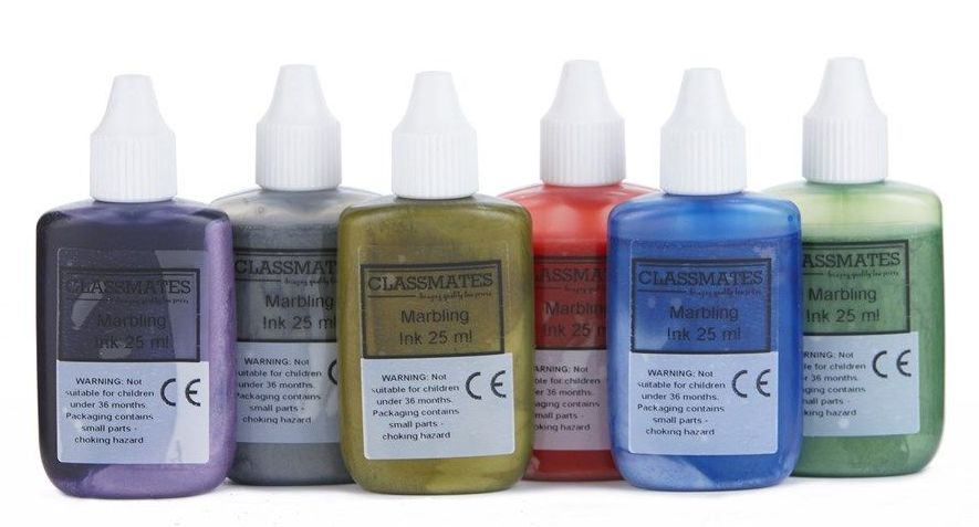 Metallic Marbling Inks - Assorted - 25ml - HE1202070 - Pack of 6