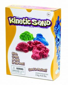 Coloured Kinetic Sand - Assorted - HE1553862 - 3kg - Each