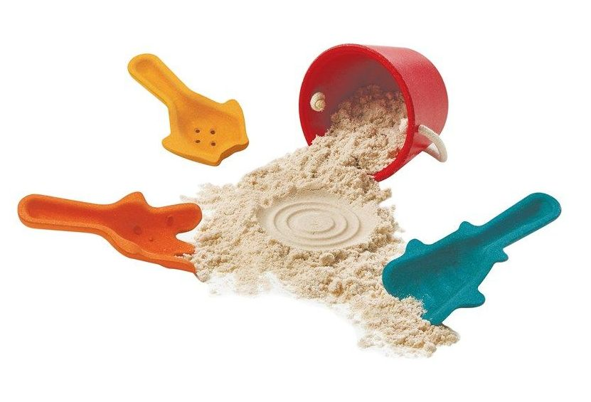 Sand Rubberwood Play Set - Assorted - HE1827554 - Pack of 4