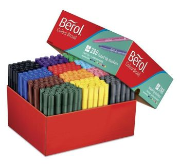 Berol Colour Broad Colouring Pens - Assorted - HE1774064 - Pack of 288