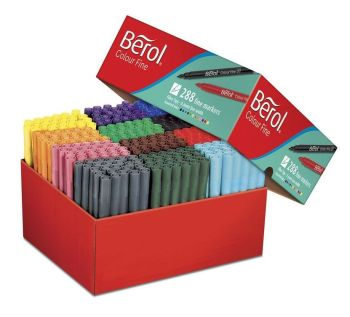 Berol Colour Fine Colouring Pens - Assorted - HE1774070 - Pack of 288