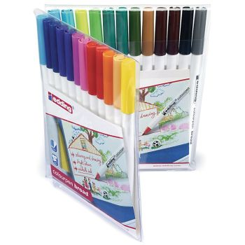 Edding  Assorted Broad Colouring Pens - HE1103039 - Pack of 24