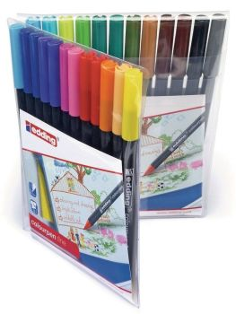 Edding Assorted Fine Colouring Pens - HE1103033 - Pack of 24