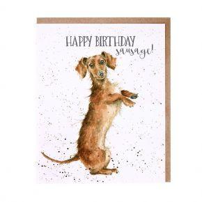 Wrendale Birthday Card- Sausage