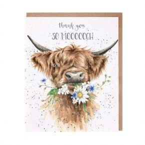 Wrendale Thank You Card-  So Moooch!