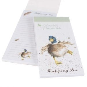 Wrendale Shopping Pad- Duck